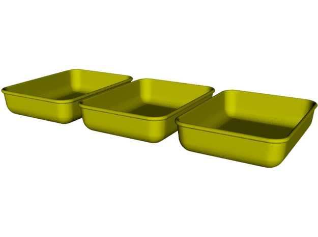 1/18 scale maintenance oil trays x 3