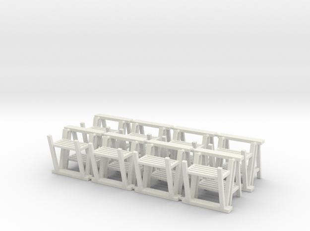 Trestle 01. 1:48  Scale in White Natural Versatile Plastic