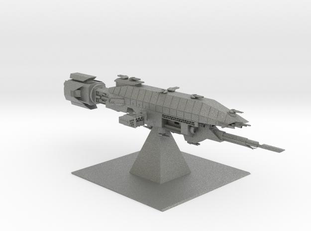 Earth Alliance - Warlock Destroyer (6.6 x / 2.8 y  in Gray Professional Plastic