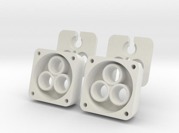 VS410 Vanquish 3 LED Headlight Bucket V2 4piece  in White Natural Versatile Plastic