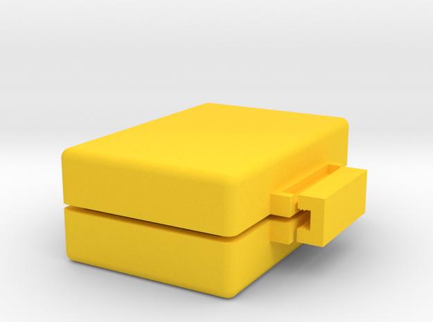 Custom Soap Mold #2 in Yellow Processed Versatile Plastic