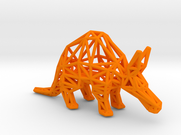 Aardvark (adult) in Orange Processed Versatile Plastic