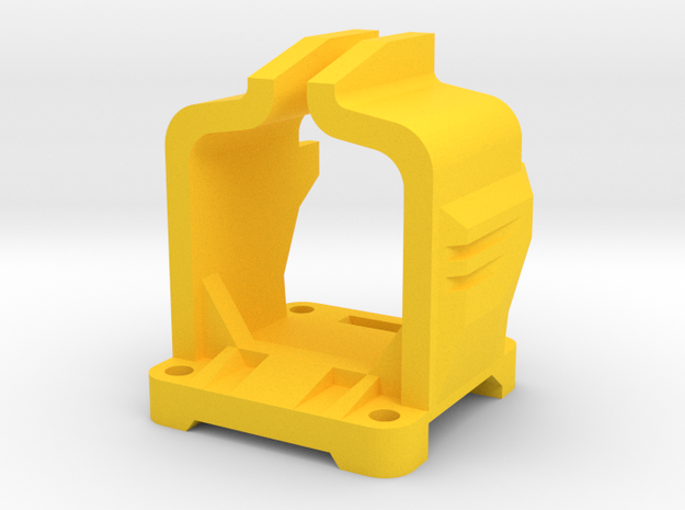 Bubo68 Camera Mount 2 in Yellow Processed Versatile Plastic