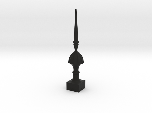Signal Finial (Victorian Spike) 1:22.5 scale in Black Natural Versatile Plastic
