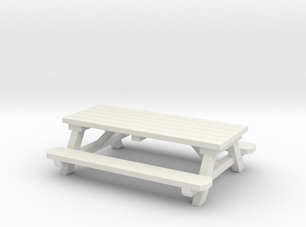 Picnic Tables 01. 1:24 scale  in White Natural Versatile Plastic