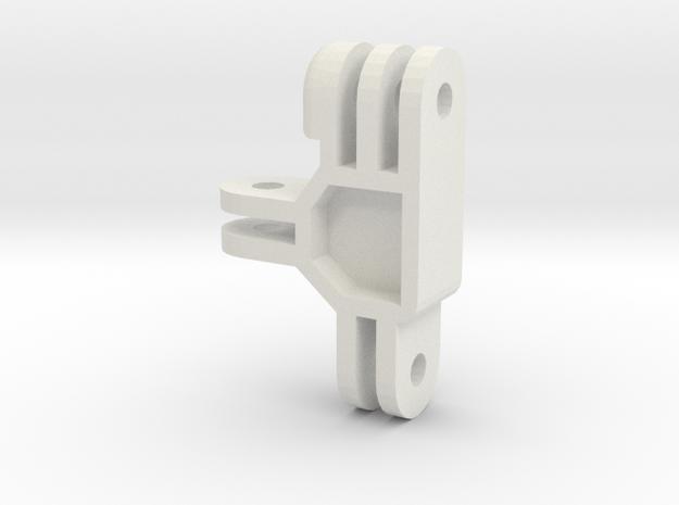 GoPro Male-Female-Female Adapter in White Natural Versatile Plastic