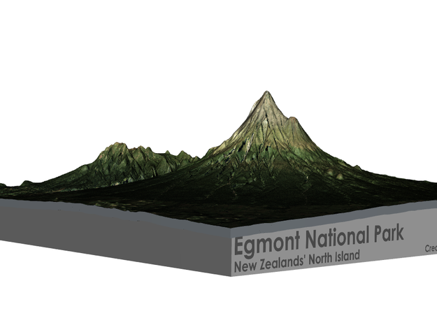 Egmont National Park Map in Matte Full Color Sandstone