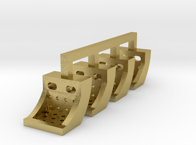 Running Board Steps, HO scale - Brass version in Natural Brass