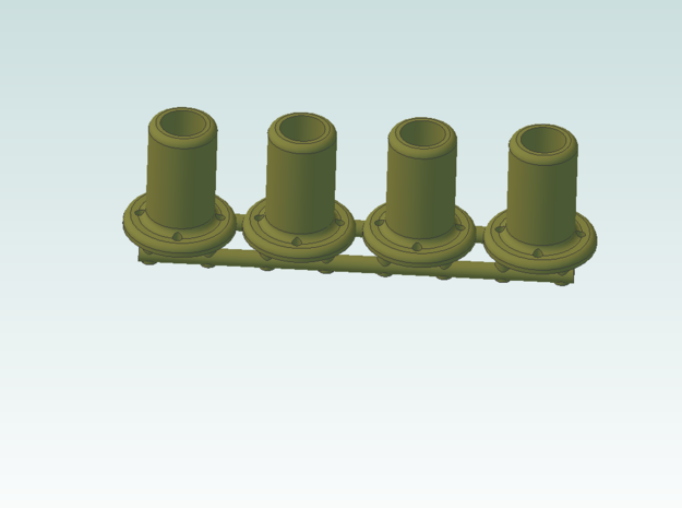 Signal Bases Brass qt 4 in Natural Brass
