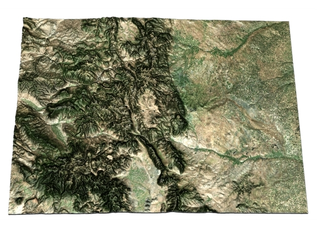 Colorado Map in Matte Full Color Sandstone