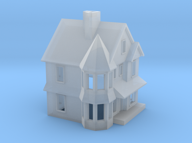 Queen Anne House - 1:285scale in Smooth Fine Detail Plastic