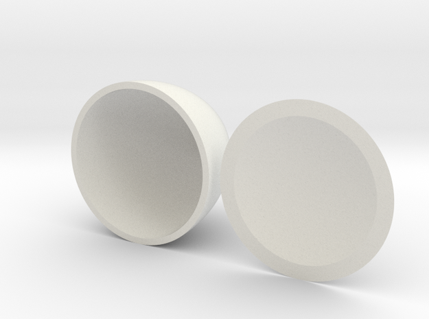 Solid of Constant Width Print Ready v1 in White Natural Versatile Plastic