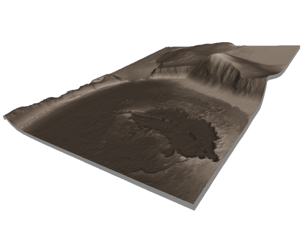 Mars Map: Lava Vent - Sepia in Glossy Full Color Sandstone