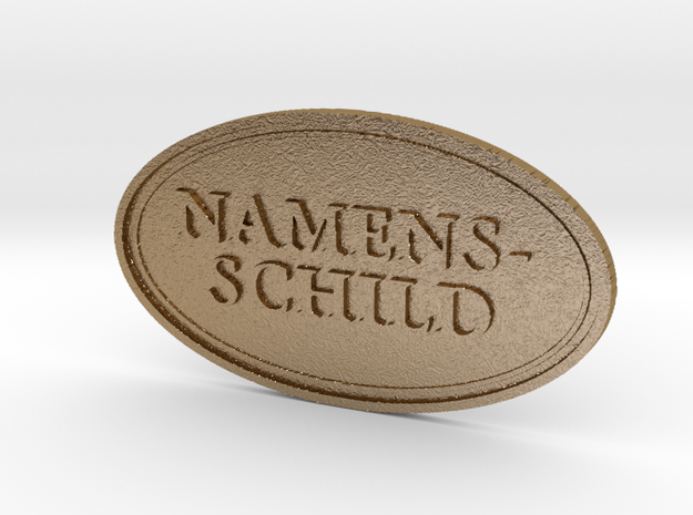namensschild tmp in Polished Gold Steel