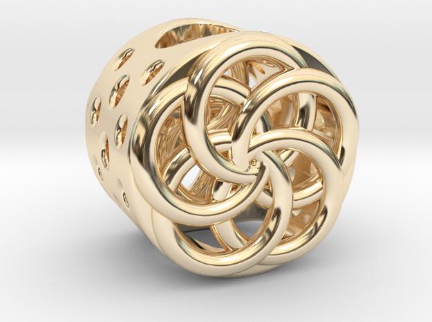 Floral Charm Bead - (Pandora compatible)