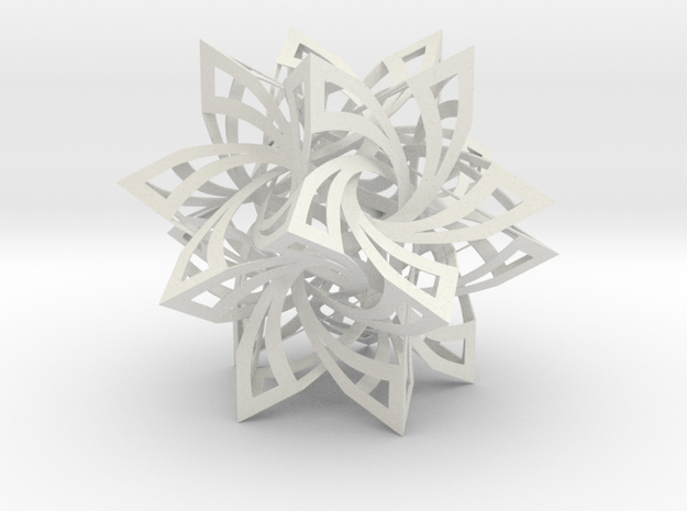 Star Frabjous Circle Box Diameter 9.5 Inches in White Natural Versatile Plastic