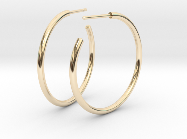 Self Hoops in 14K Yellow Gold