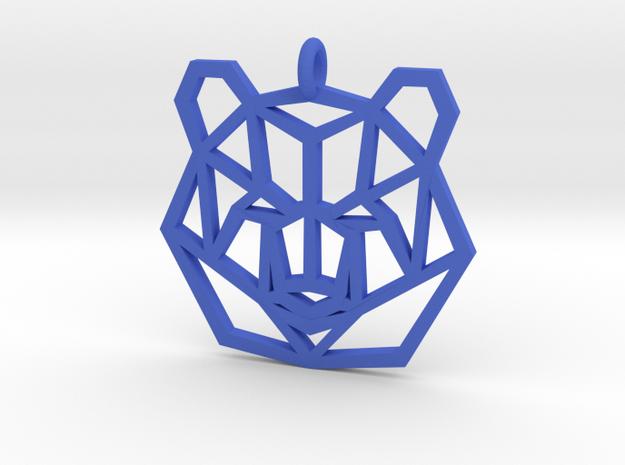 Bear Pendant in Blue Processed Versatile Plastic