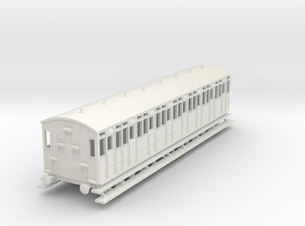 o-87-metropolitan-8w-short-brake-coach in White Natural Versatile Plastic
