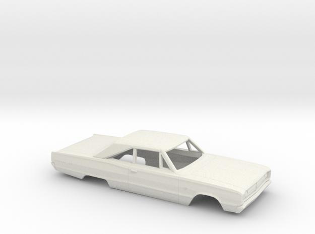 1/25 1967 Dodge Coronet Coupe Body in White Natural Versatile Plastic