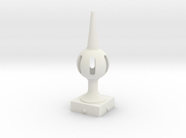 Signal Finial (Pierced Ball) 1:6 scale in White Natural Versatile Plastic