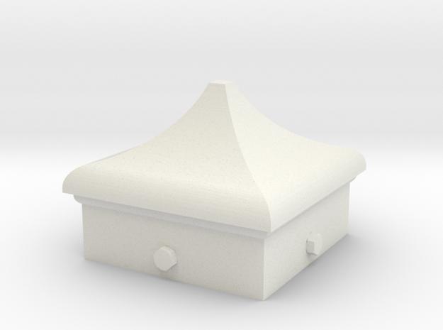 Signal Finial (Square Cap) 1:22.5 scale in White Natural Versatile Plastic