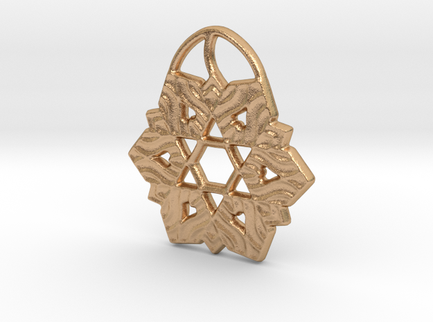 David's Shield Flake Pendant in Natural Bronze