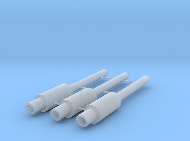 1/64 Scale JDM Type Exhaust with 2 mm Tip in Smoothest Fine Detail Plastic