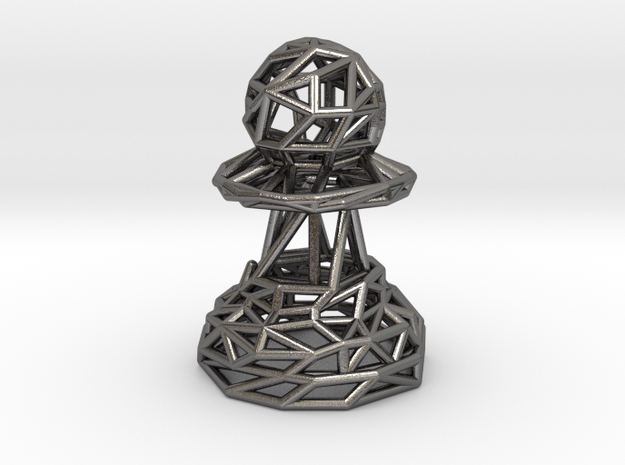 Pawn in Polished Nickel Steel