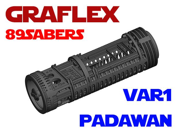 Graflex 89Sabers - Padawan Var1 Lightsaber Chassis in White Natural Versatile Plastic