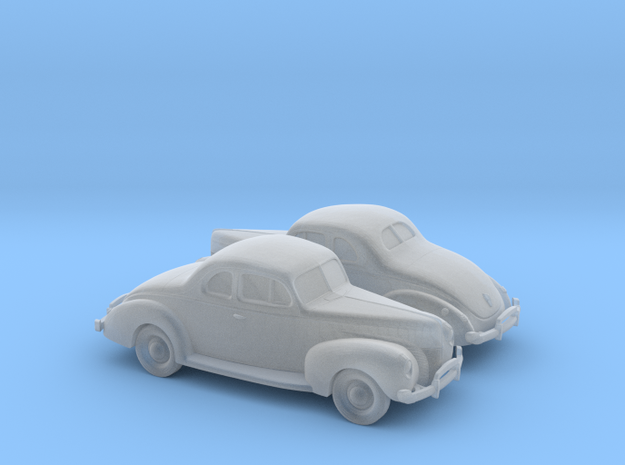 1/160 2X 1940 Ford Eight Coupe in Smooth Fine Detail Plastic