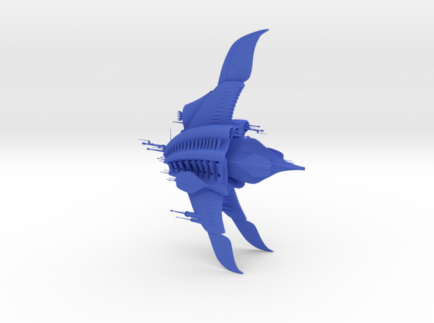 Minbari Federation - Sharlin Warcruiser in Blue Processed Versatile Plastic