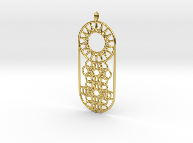 Makrys Circles in Polished Brass