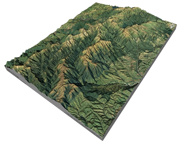 "Ruahine Range Map: 8.5""x11"" (100k) in Glossy Full Color Sandstone"