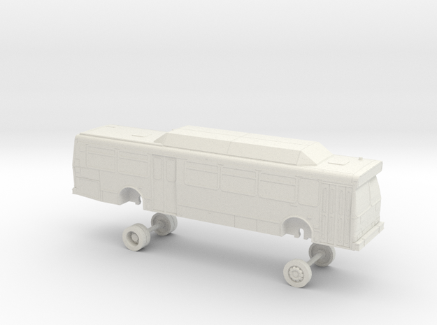 HO Scale Bus Orion V NICE 1600s in White Natural Versatile Plastic