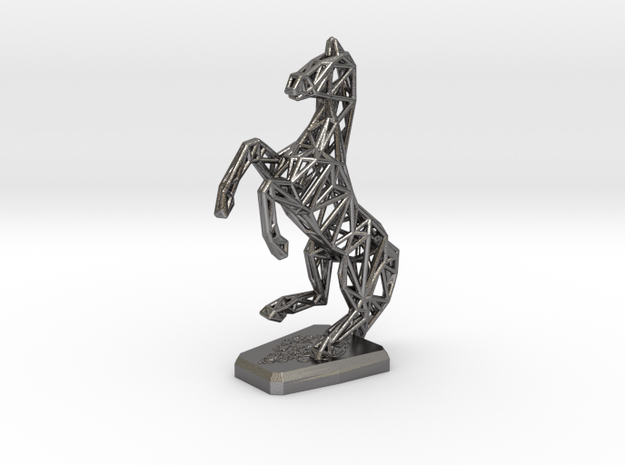Horse in Polished Nickel Steel