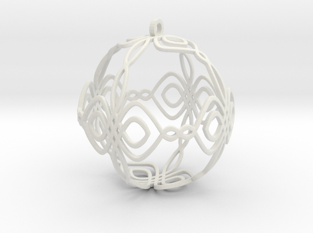 Celtic Knot Ornament in White Natural Versatile Plastic