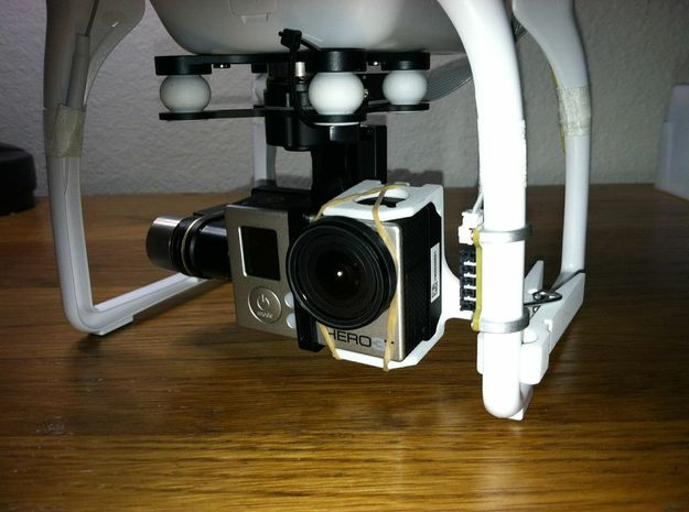 ZenClip - DJI Phantom 2 - Zenmuse H3-2D 3d printed Secures the H3-3D gimbal - Customer photo @kto10z