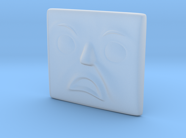 Annoyed Face in Smoothest Fine Detail Plastic