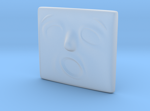 Scared Face in Smoothest Fine Detail Plastic