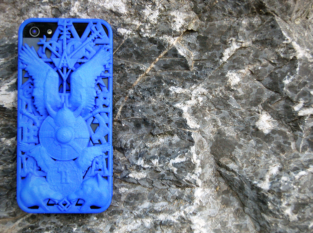 Ragnarök iPhone 5 Cover  in Blue Strong & Flexible Polished