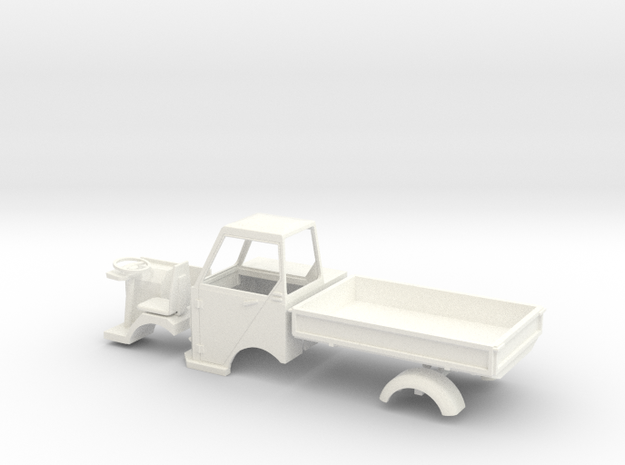 S1-803T    Einzelteile Multicar M22 im Maßstab 1:3 in White Processed Versatile Plastic