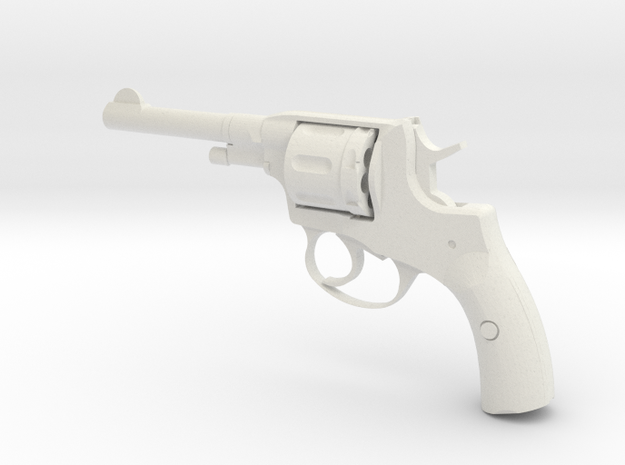 Nagant revolver 1:3 scale in White Natural Versatile Plastic