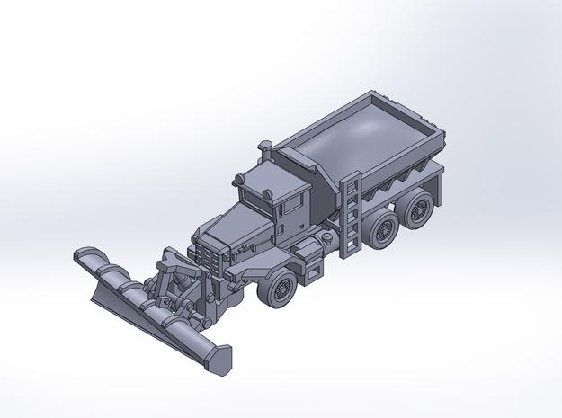 OK P 3axle snow plow deicer rev2 in Smoothest Fine Detail Plastic: 1:200
