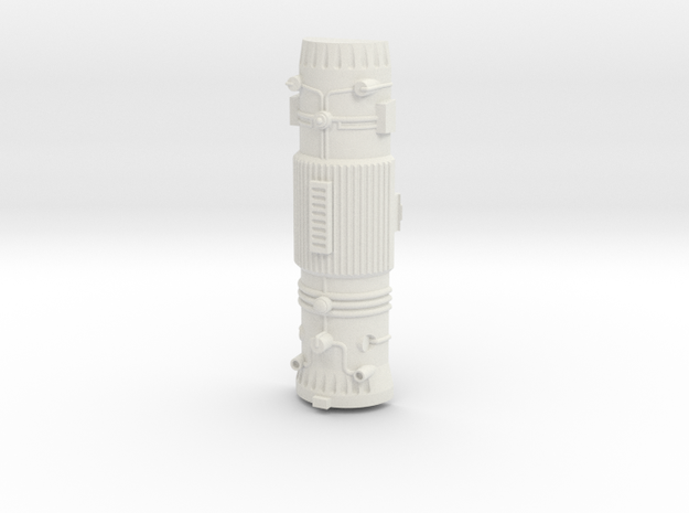 Captain Action IDEAL Silver Streak Engine in White Natural Versatile Plastic