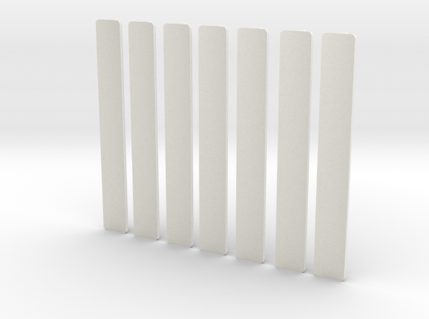Custom request - T-Grips * 7 in White Natural Versatile Plastic