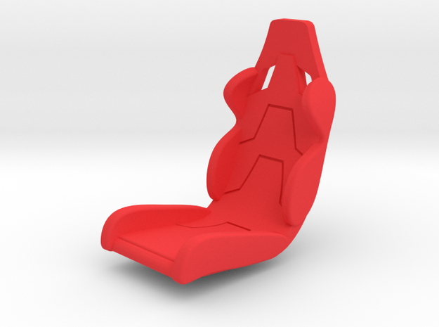 Seat (1/32) in Red Processed Versatile Plastic