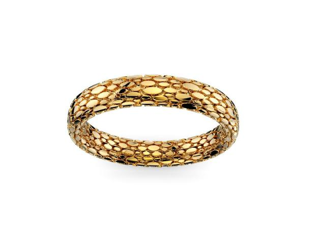 Elipsis Skin Ring in 18k Gold Plated Brass: 7.5 / 55.5