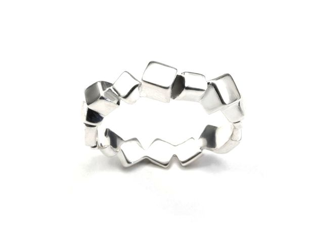 Ring Mary Double Prisms (from $13,90) in Polished Silver