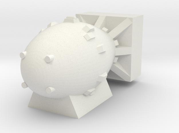 Fat Boy Atom Bomb (x1) in White Natural Versatile Plastic